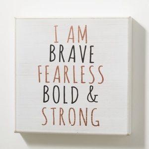 Brave & Fearless Box Wall Art